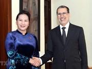 Entrevue entre la présidente de l'AN du Vietnam et le PM du Maroc