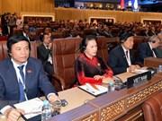 La présidente de l'AN Nguyên Thi Kim Ngân assiste à l'ouverture de la 140e assemblée de l'UIP