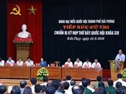 Le PM Nguyên Xuân Phuc  à l'écoute des électeurs de Hai Phong