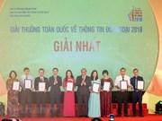 Cérémonie de remise des Prix nationaux de l'information pour l'étranger 2018