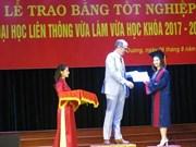Activités thérapeutiques : remise de diplôme universitaire à Hai Duong