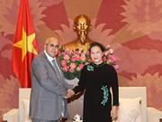 La présidente de l'AN reçoit le président du Comité de défense de la Révolution de Cuba