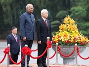 Cérémonie d'accueil du président indien Ram Nath Kovind