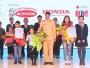 """Remise des prix du concours """"Doraemon et la sécurité routière"""" au Vietnam 2018"""