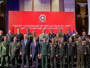 Cérémonie de célébration des 70 ans de la fondation de l'Armée populaire du Laos