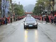Le convoi transportant le président Kim Jong-un a quitté Dong Dang pour Hanoi