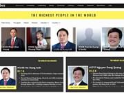Cinq Vietnamiens parmi les plus riches du monde, selon le classement de Forbes 2019