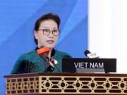 La présidente de l'AN Nguyen Thi Kim Ngan à la séance plénière de l'UIP-140