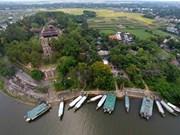 La plus belle pagode vue de haut