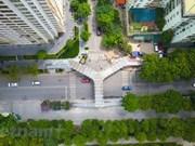 Le plus beau viaduc pour piétons de la capitale en cours d'achèvement
