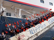 Le bateau de la jeunesse ASEAN-Japon  arrive à Ho Chi Minh-Ville