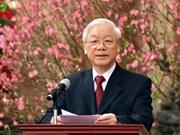 Vœux du Têt du secrétaire général et président Nguyên Phu Trong