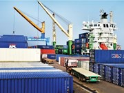 Hai Phong : le terminal HITC accueille un grand porte-conteneurs
