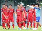Football: Les joueurs vietnamiens devant le derby avec la Thaïlande