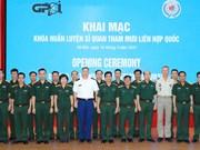 Ouverture d'un cours de formation pour les officiers d'état-major des Nations Unies