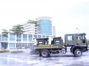 Hanoï: désinfection de l'antenne de l'Hôpital central des maladies tropicales à Dông Anh