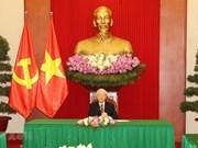 Le chef du PCV et le président sud-coréen s'entretiennent au téléphone