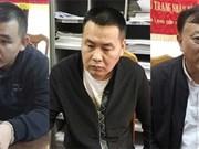 Trois personnes recherchées internationalement arrêtées à Quang Ninh