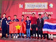 Des élèves de Hanoi remportent des médailles d'or au concours international de mathématiques