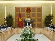 Le PM préside la réunion du sous-comité économique et social en vue du prochain congrès du Parti
