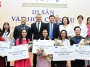 Remise des prix du concours d'écriture sur le patrimoine culturel européen