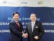 FPT et SBI (Japon) lancent le programme de récompense pour les points de vente au détail