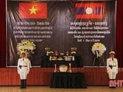 Des restes de soldats volontaires et d'experts vietnamiens rapatriés du Laos  