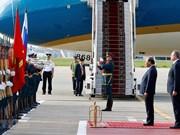 Cérémonie d'accueil en l'honneur du PM Nguyen Xuan Phuc à Moscou