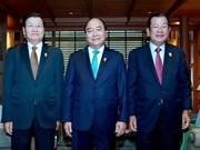 Le PM vietnamien rencontre ses homologues laotien et le cambodgien en marge du 34e sommet de l'ASEAN