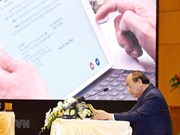 Le PM préside la première réunion du gouvernement via le système e-Cabinet