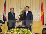 Le Premier ministre cambodgien Samdech Techo Hun Sen se rend à Hô Chi Minh-Ville