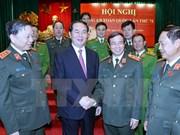 Le président plaide pour l'édification des forces de police saines et fortes