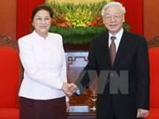 Le leader du PCV réaffirme la solidarité spéciale Vietnam-Laos