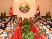 Vietnam et Laos affirment la détermination de promouvoir leurs relations d'amitié traditionnelles