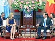 Le président Tran Dai Quang reçoit la reine des Pays-Bas