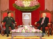 Le leader du PCV, le PM reçoivent le chef adjoint de la Commission militaire centrale chinoise