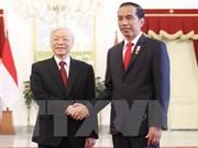 Le leader du PCV convaincu de l'essor des liens Vietnam-Indonésie