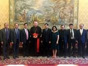 Le Vietnam et le Vatican discutent de leurs relations bilatérales