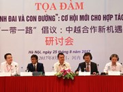 """L'initiative chinoise """"Ceinture et route"""" en débat à Hanoi"""