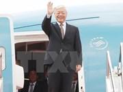Le SG du PCV Nguyen Phu Trong termine sa visite en Indonésie et au Myanmar