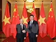 Le leader du PCV félicite le secrétaire général du Parti communiste chinois