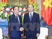Le président loue le partenariat stratégique élargi avec le Japon