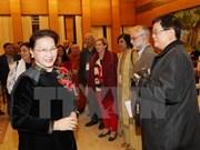 La présidente de l'AN apprécie le rôle du Conseil mondial de la paix