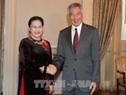 La présidente de l'AN rencontre des dirigeants singapouriens