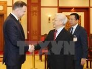 Le secrétaire général Nguyen Phu Trong reçoit le président polonais