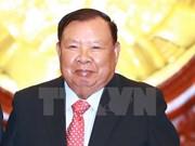 Le président laotien rencontre des responsables de l'Association d'amitié Vietnam-Laos