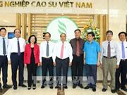 Le PM travaille avec le Groupe de caoutchouc du Vietnam