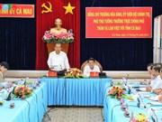 Déplacement du vice-Premier ministre Truong Hoa Binh à Ca Mau