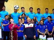 La présidente de l'Assemblée nationale reçoit l'équipe U23