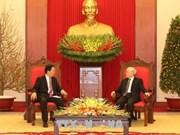 Le secrétaire général du Parti reçoit l'ambassadeur chinois